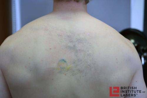 Black & Green Angel Tattoo 3
