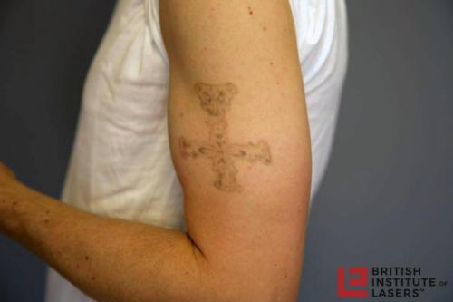Black Ink Cross Tattoo 3