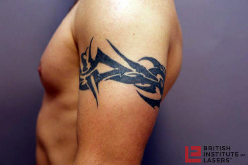 Black Tribal Upper Arm Tattoo 1
