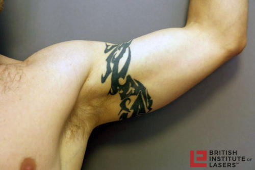 Black Tribal Upper Arm Tattoo 2