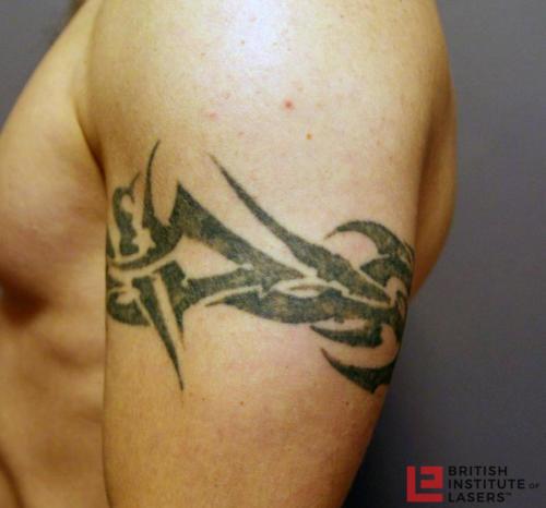 Black Tribal Upper Arm Tattoo 4