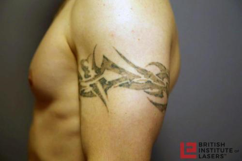Black Tribal Upper Arm Tattoo 5