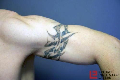 Black Tribal Upper Arm Tattoo 7